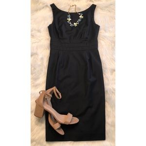J.Crew sleeveless navy blue career dress